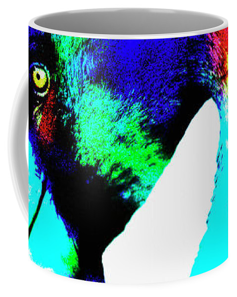 Colored Flamingo Coffee Mug featuring the photograph Colored Flamingo by David Millenheft