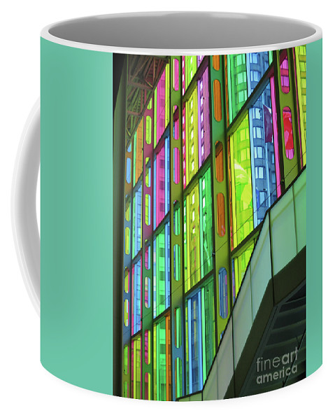 Montreal Coffee Mug featuring the photograph Colored Glass 1 by Randall Weidner