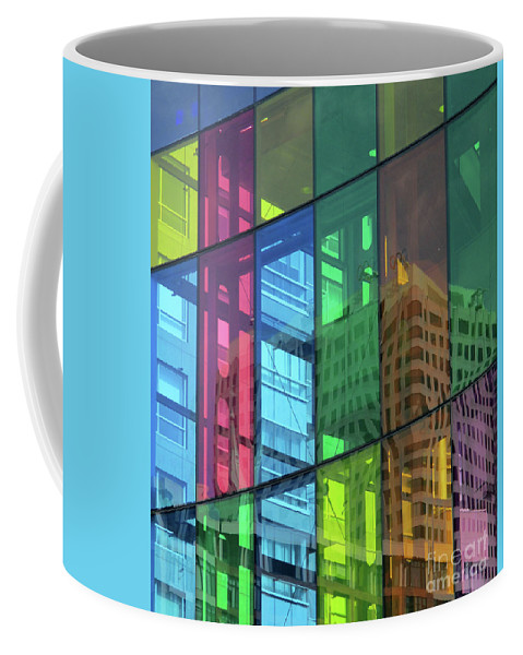 Montreal Coffee Mug featuring the photograph Colored Glass 10 by Randall Weidner