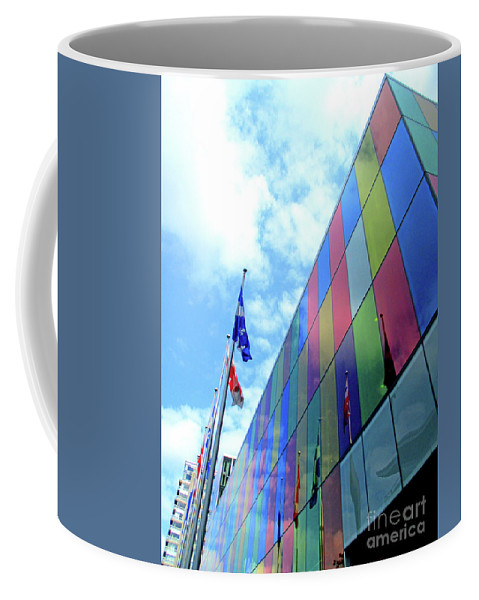 Montreal Coffee Mug featuring the photograph Colored Glass 7 by Randall Weidner