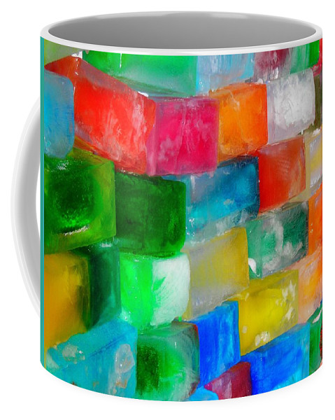 Wall Coffee Mug featuring the photograph Colored Ice Bricks by Juergen Weiss
