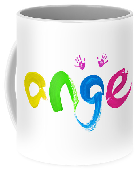 Angel Coffee Mug featuring the painting Colorful Angel by Tim Gainey