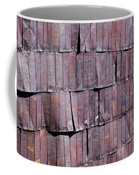 Tin Coffee Mug featuring the photograph Colorful Armor by Kelley King