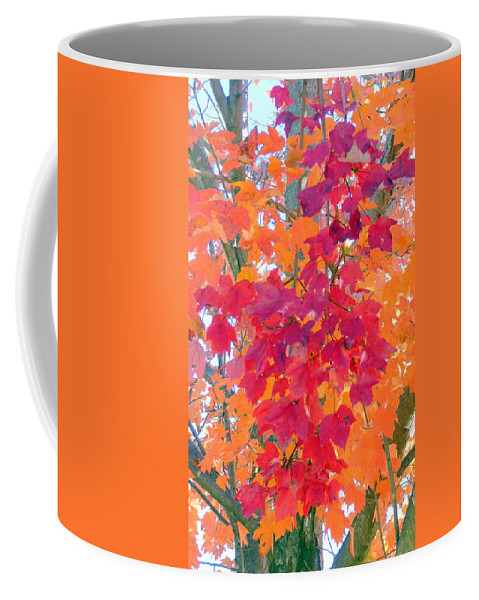 Leaves Coffee Mug featuring the photograph Colorful Autumn Leaves by Carla Parris