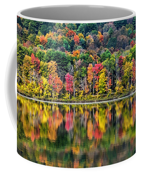 New York Coffee Mug featuring the photograph Colorful Autumn Reflections by Christina Rollo