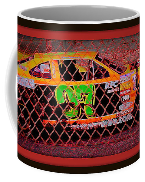 Colorful Coffee Mug featuring the photograph Colorful Car by Anita Goel
