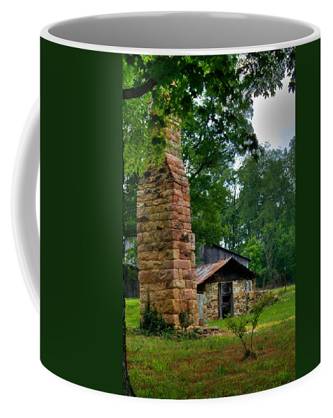 Chimney Coffee Mug featuring the photograph Colorful Chimney by Douglas Barnett