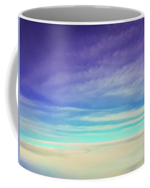 Purple Coffee Mug featuring the photograph Colorful Clouds by Jonny D