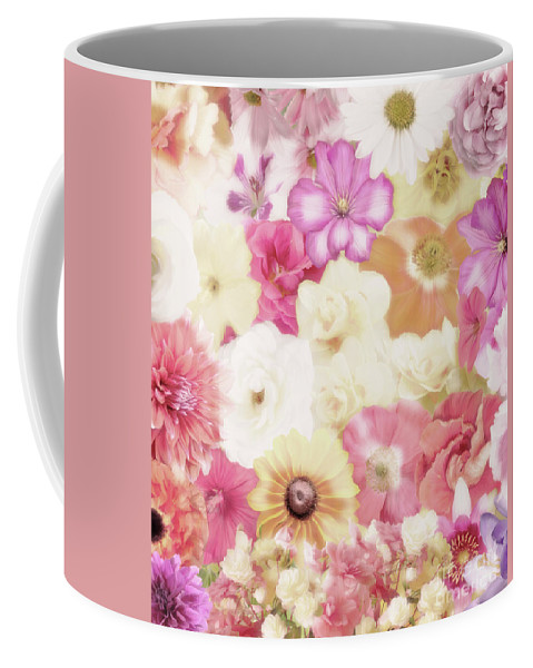 Flower Coffee Mug featuring the digital art Colorful Floral Background by Svetlana Foote