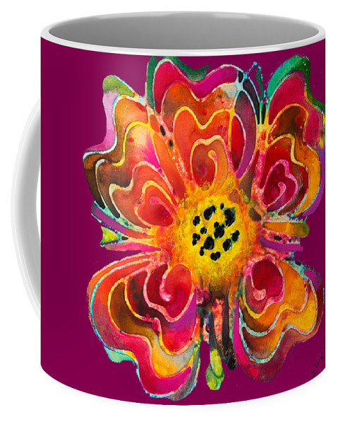 Colorful Coffee Mug featuring the painting Colorful Flower Art - Summer Love By Sharon Cummings by Sharon Cummings