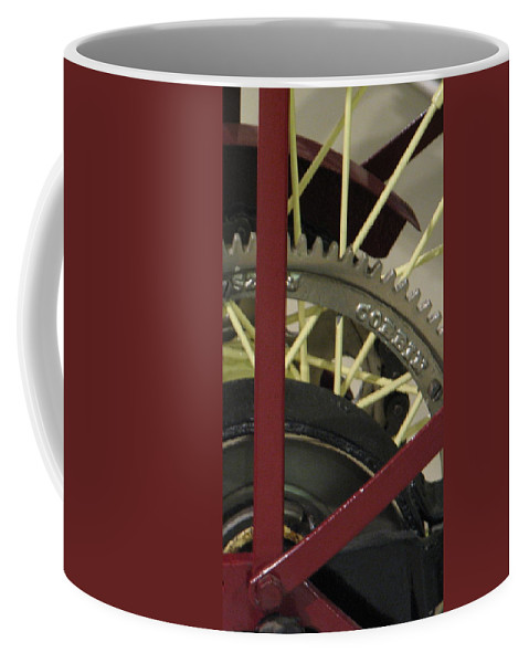 Airplane Coffee Mug featuring the photograph Colorful Gears by Kelly Mezzapelle