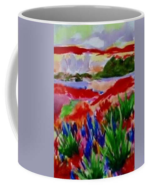 Red Coffee Mug featuring the painting Colorful by Jamie Frier
