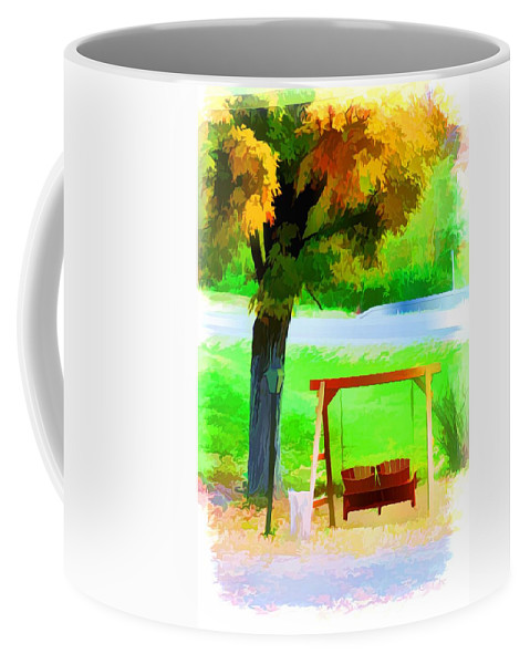 Colorful Maple Tree In The Autumn Coffee Mug featuring the painting Colorful Maple Tree In The Autumn by Jeelan Clark