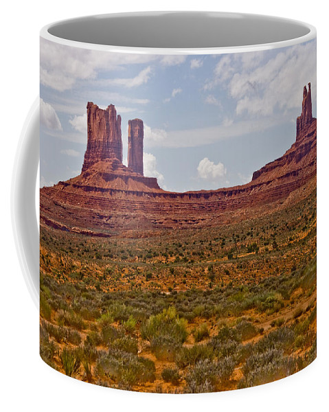 Monument Valley Coffee Mug featuring the photograph Colorful Monument Valley by James BO Insogna