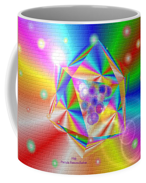 Colorful Coffee Mug featuring the digital art Colorful Mural by Pamula Reeves-Barker