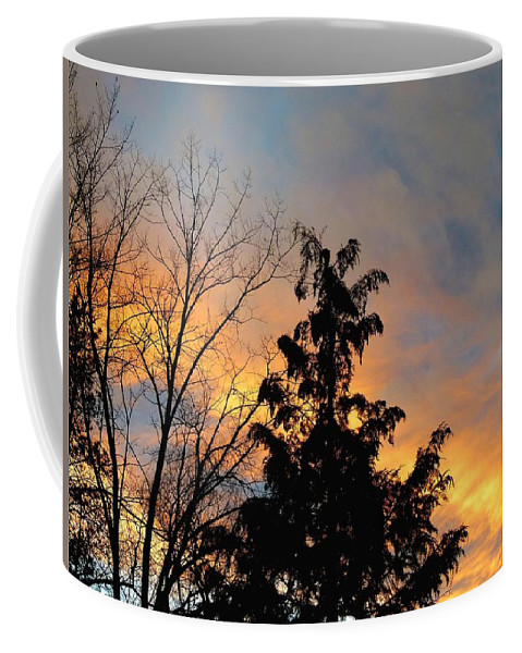 Sunset Coffee Mug featuring the photograph Colorful Nightfall by Will Borden