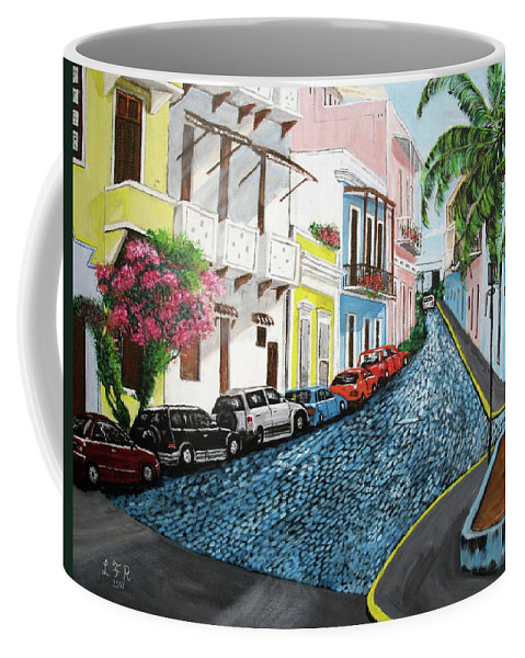 Old San Juan Coffee Mug featuring the painting Colorful Old San Juan by Luis F Rodriguez