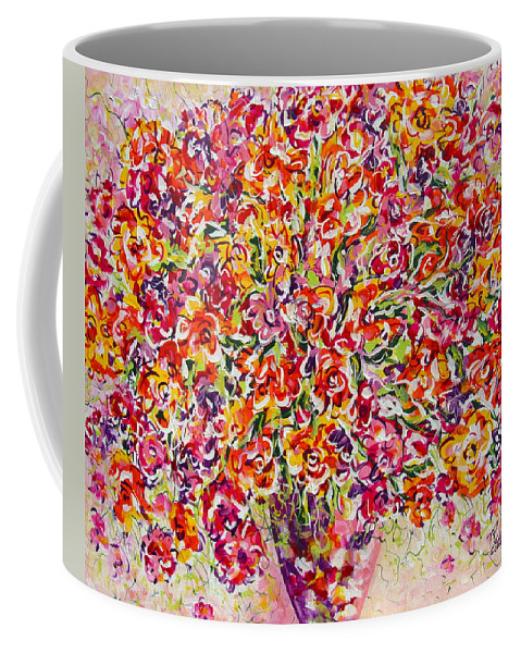 Framed Prints Coffee Mug featuring the painting Colorful Organza by Natalie Holland