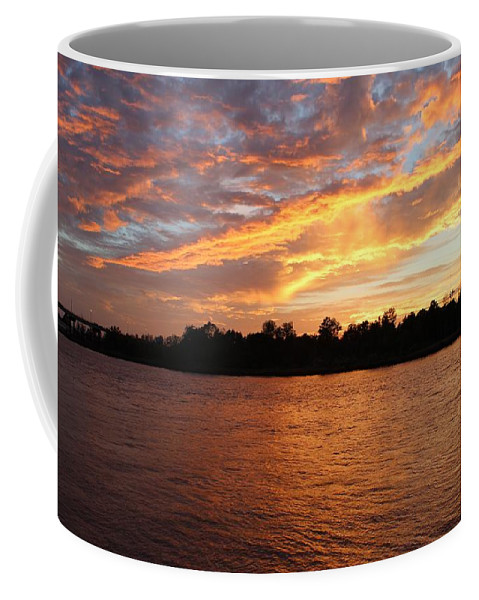 Sunset Coffee Mug featuring the photograph Colorful Sky At Sunset by Cynthia Guinn
