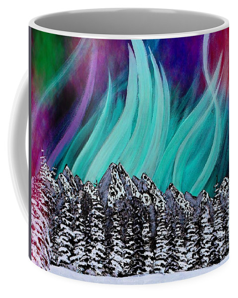 Colorful Sky Coffee Mug featuring the painting Colorful Sky by Barbara Griffin