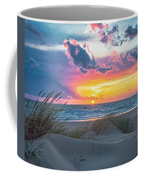 Sky Coffee Mug featuring the photograph Colorful Sunset by Alex Hiemstra