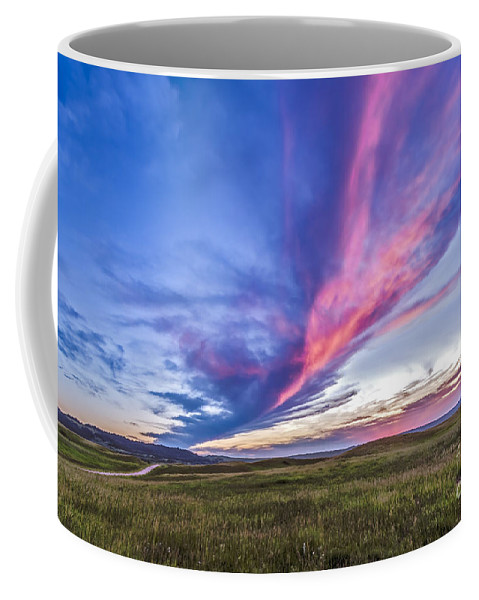 Alberta Coffee Mug featuring the photograph Colorful Sunset At The Reesor Ranch by Alan Dyer