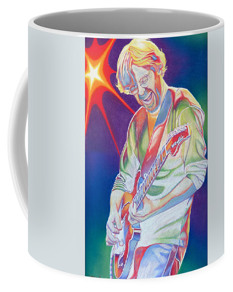 Phish Coffee Mug featuring the drawing Colorful Trey Anastasio by Joshua Morton