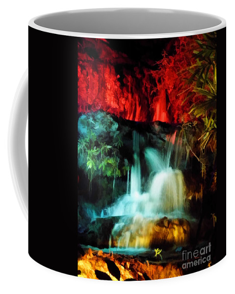 Christmas Coffee Mug featuring the photograph Colorful Waterfall by D Hackett