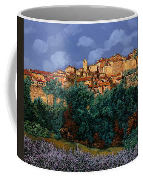 Provence Coffee Mug featuring the painting colori di Provenza by Guido Borelli