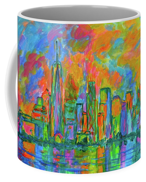 New York Prints For Sale Coffee Mug featuring the painting Coloring The Big Apple by Kendall Kessler