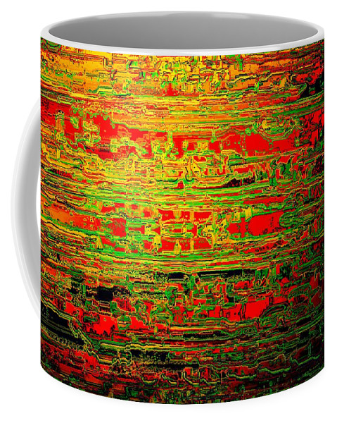 Colorisentenz Coffee Mug featuring the digital art Colorisentences by Helmut Rottler