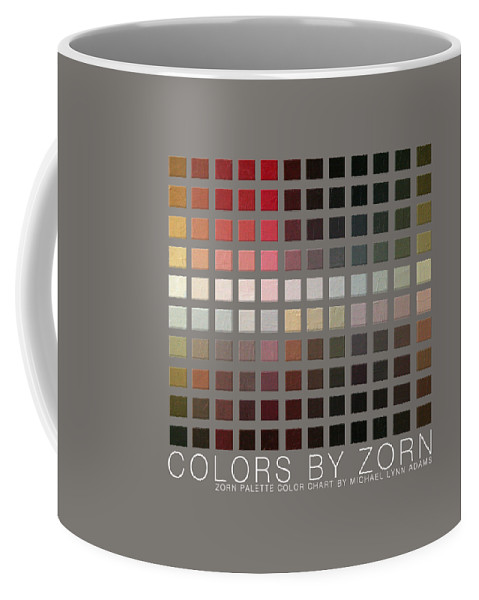 Coffee Mug featuring the painting Colors By Zorn by Michael Lynn Adams