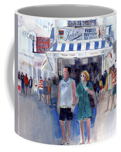 Coffee Mug featuring the painting Colors Of A Summer - Jersey Shore by Dorrie Rifkin
