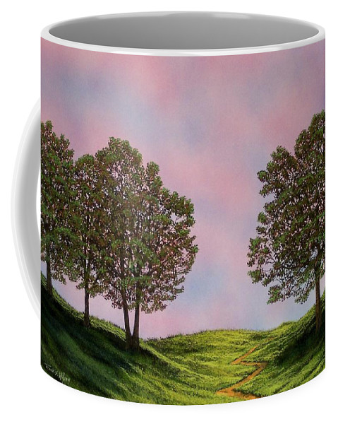 Landscape Coffee Mug featuring the painting Colors Of Dawn by Frank Wilson