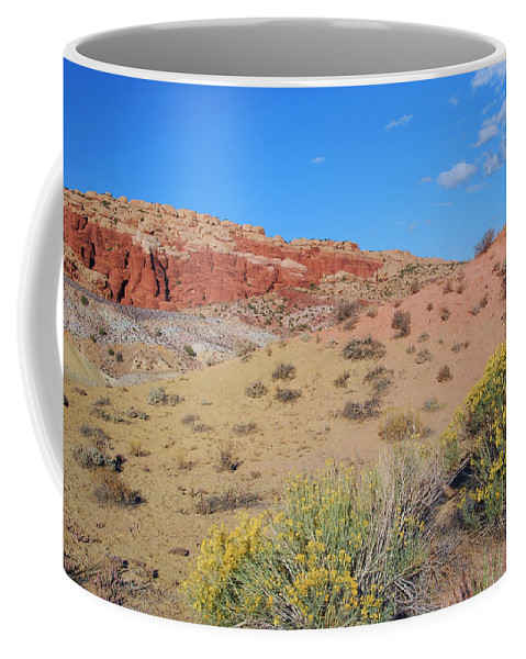Desert Coffee Mug featuring the photograph Colors Of The Utah Desert by Cascade Colors