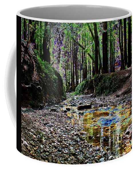 Creek Coffee Mug featuring the photograph Colors On The Creek by Ben Upham III