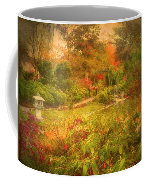 Autumn Coffee Mug featuring the photograph Colour Explosion In The Japanese Gardens by Tara Turner