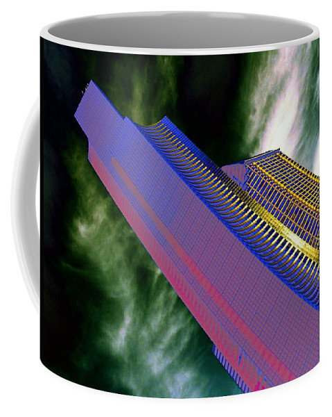 Seattle Coffee Mug featuring the digital art Columbia And Municipal Towers Seattle Wa by Tim Allen