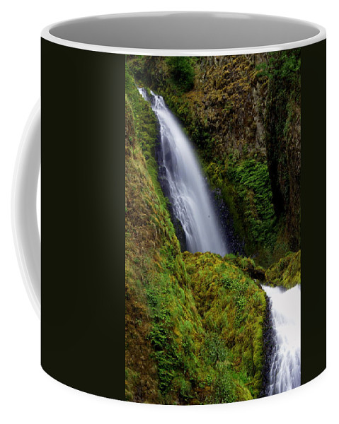 Waterfall Coffee Mug featuring the photograph Columbia River Gorge Falls 1 by Marty Koch