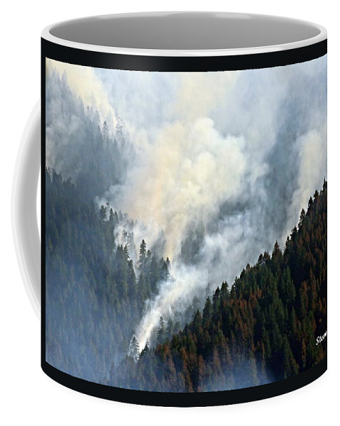 Columbia River Coffee Mug featuring the photograph Columbia River Gorge Wildfire 2017 by Steve Warnstaff