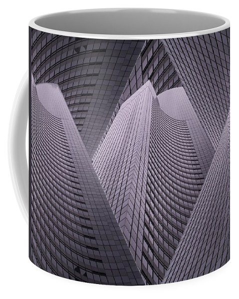 Seattle Coffee Mug featuring the digital art Columbia Tower Seattle Wa 2 by Tim Allen