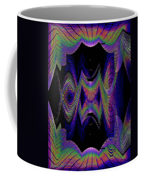 Seattle Coffee Mug featuring the digital art Columbia Tower Vortex 2 by Tim Allen