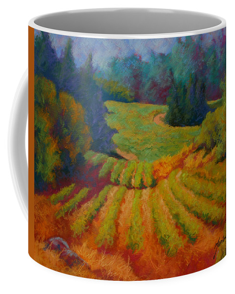 Pastel Coffee Mug featuring the painting Columbia Valley Vineyard by Marion Rose