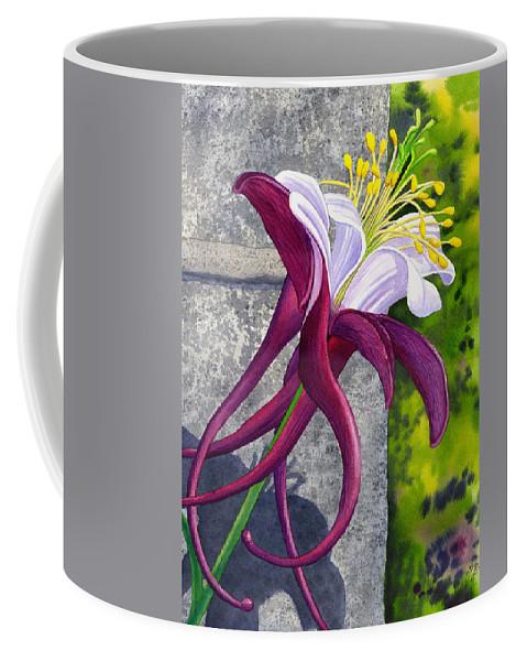 Columbine Coffee Mug featuring the painting Columbine by Catherine G McElroy