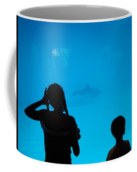 Dolphin Coffee Mug featuring the photograph Come Back by Joseph Shbair
