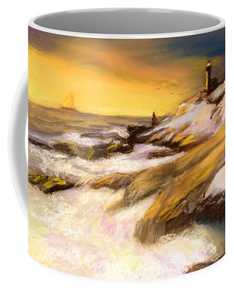 Seascape Coffee Mug featuring the painting Come Home by Gail Kirtz