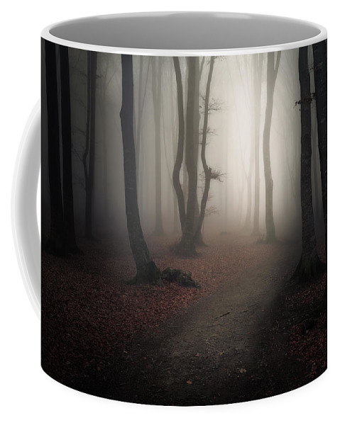 Forest Coffee Mug featuring the digital art Come Into The Light by Ciprian Negura