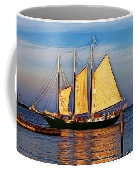 Alliance Coffee Mug featuring the photograph Come Sail Away by Amy Jackson