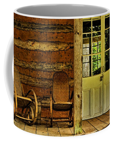 Plantation Coffee Mug featuring the photograph Come Sit A Spell by Judy Vincent