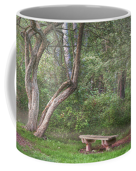Bench Coffee Mug featuring the photograph Come Sit With Me Awhile by Dorothy Pierini-Rodgers